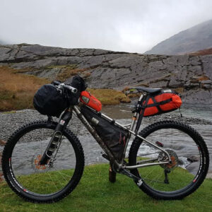 Bike all kitted out for a bike packing adventure.